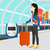 bagaż · bagażu · walizkę · koła · turystyki · odizolowany - zdjęcia stock © rastudio
