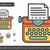 antik · írógép · elöl · kilátás · papír · lap - stock fotó © rastudio