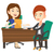 two businesswomen during business meeting stock photo © rastudio