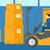 werknemer · bewegende · laden · heftruck · vrachtwagen · asian - stockfoto © rastudio