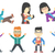 vector set of families and business characters stock photo © rastudio