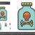 botella · tóxico · línea · icono · web · móviles - foto stock © rastudio