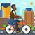 człowiek · rowerowe · pracy · wektora · projektu · ilustracja - zdjęcia stock © rastudio