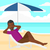 praia · guarda-chuva · mar · costa · natureza · paisagem - foto stock © rastudio