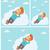 漫画 · 男 · 飛行 · 夢 · レトロな · 図面 - ストックフォト © rastudio