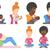 esportes · pessoas · isolado · preto · ilustrações · humanismo - foto stock © rastudio