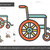 cadeira · de · rodas · ícone · branco · ilustração · cadeira · desvantagem - foto stock © rastudio