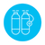 zuurstof · tank · lijn · icon · web · mobiele - stockfoto © rastudio