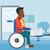 patient sitting in wheelchair stock photo © rastudio
