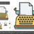 ヴィンテージ · タイプライター · 書く · 古い · 紙 - ストックフォト © rastudio