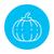 abóbora · círculo · ícone · cair · sazonal · vegetal - foto stock © rastudio