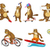 vector set of cute beavers sport illustrations stock photo © rastudio