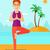rugalmasság · edzés · káprázatos · szőke · lány · testmozgás - stock fotó © rastudio