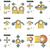 érintőképernyő · kéz · gesztusok · szett · csap · számítógép - stock fotó © rastudio
