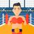 boxeador · luvas · vetor · projeto · ilustração · isolado - foto stock © rastudio