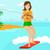 professional wakeboard sportswoman stock photo © rastudio