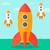 űr · rakéta · indulás · vektor · terv · stílus - stock fotó © rastudio