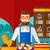 sikeres · kisvállalkozás · tulajdonos · áll · asztal · sütemény - stock fotó © rastudio