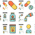 medicine line icon set stock photo © rastudio