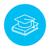 Graduation cap laying on book line icon. stock photo © RAStudio