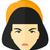 boos · vrouw · asian · vector · ontwerp · illustratie - stockfoto © rastudio