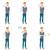 vector set of illustrations with business people stock photo © rastudio