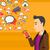 medios · de · comunicación · social · teléfono · móvil · aplicación · Internet · conexión · persona - foto stock © rastudio
