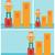 becsődölt · diagram · lefelé · ázsiai · ijedt · üzletember - stock fotó © rastudio
