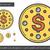 valuta · érme · vektor · piktogram · kép · izolált - stock fotó © rastudio