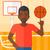 basketball player spinning ball stock photo © rastudio