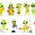 vector · establecer · verde · hobby · ilustraciones · ocupado - foto stock © RAStudio