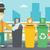 человека · Recycle · мусорное · ведро · молодые · кавказский - Сток-фото © rastudio
