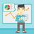 férfi · bemutat · jelentés · infografika · tábla · vektor - stock fotó © rastudio