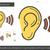 oído · línea · icono · vector · aislado · blanco - foto stock © rastudio