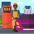 homme · remplissage · up · carburant · voiture · vecteur - photo stock © rastudio