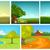 vektor · rajz · szett · nyár · hátterek · kézzel · rajzolt - stock fotó © rastudio