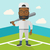 cartoon · honkbalspeler · bat · ontwerp · baseball · home - stockfoto © rastudio