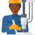 worker working with industrial equipment stock photo © rastudio