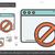 pagina · verboden · lijn · icon · vector · geïsoleerd - stockfoto © rastudio
