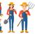 ingesteld · agrarisch · illustraties · boeren · tools · landbouwer - stockfoto © RAStudio