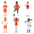 vector set of sport characters stock photo © rastudio