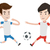 два · мужчины · Футбол · мяча - Сток-фото © rastudio