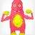 amuzant · monstru · dietă · izolat · gri - imagine de stoc © RAStudio