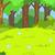 森林 · 林間の空き地 · 漫画 · eps · 10 · 春 - ストックフォト © rastudio
