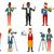 vector set of media people characters stock photo © rastudio