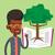 illustrazione · albero · crescita · libro · aperto · impianto · libro - foto d'archivio © rastudio