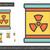 nucleaire · verontreiniging · lijn · icon · vector · geïsoleerd - stockfoto © rastudio