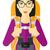 cartoon · illustratie · meisje · ontdekkingsreiziger · kaart - stockfoto © rastudio