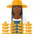 黒 · 農家 · 小麦 · 麦畑 · 男 - ストックフォト © rastudio