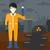 człowiek · promieniowanie · garnitur · probówki - zdjęcia stock © rastudio